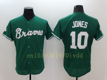 Cheap Mens 6 Bobby Cox 10 Chipper Jones 24 Deion Sanders Jerseys baseball Jerseys Free Shipping(China (Mainland))