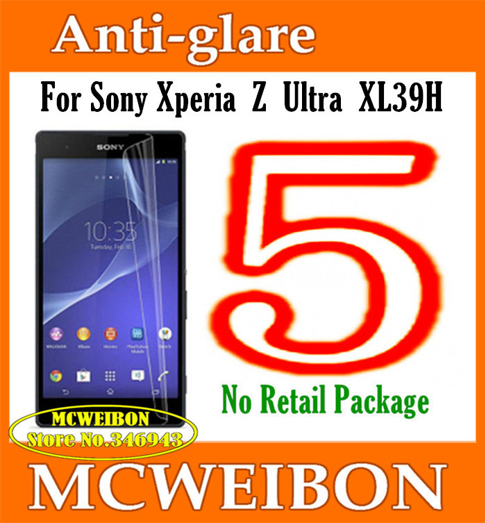 Matte Anti-Glare Anti Glare Screen Protector mobile protective film lcd For Sony Xperia Z Ultra XL39H,No Retail Package+5Pcs(China (Mainland))