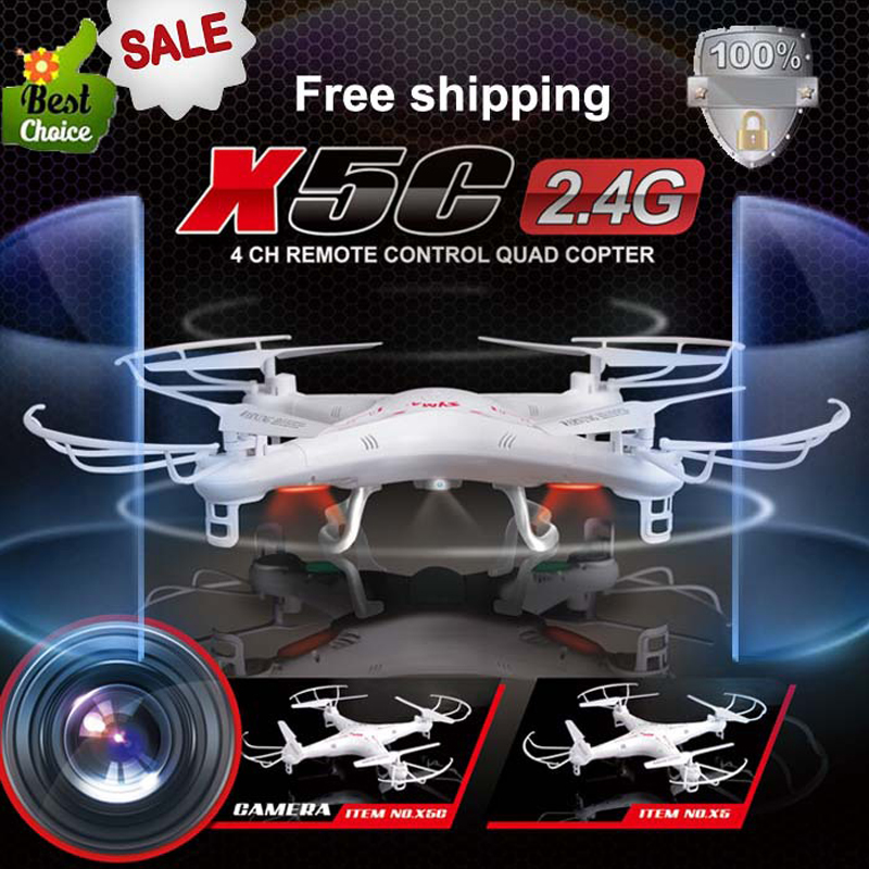 Original New SYMA X5C 2.4G 4CH 6-Axis Drone With HD Camera Remote Control RC Helicopter FPV Quadcopter Toys Gift Free shipping(China (Mainland))