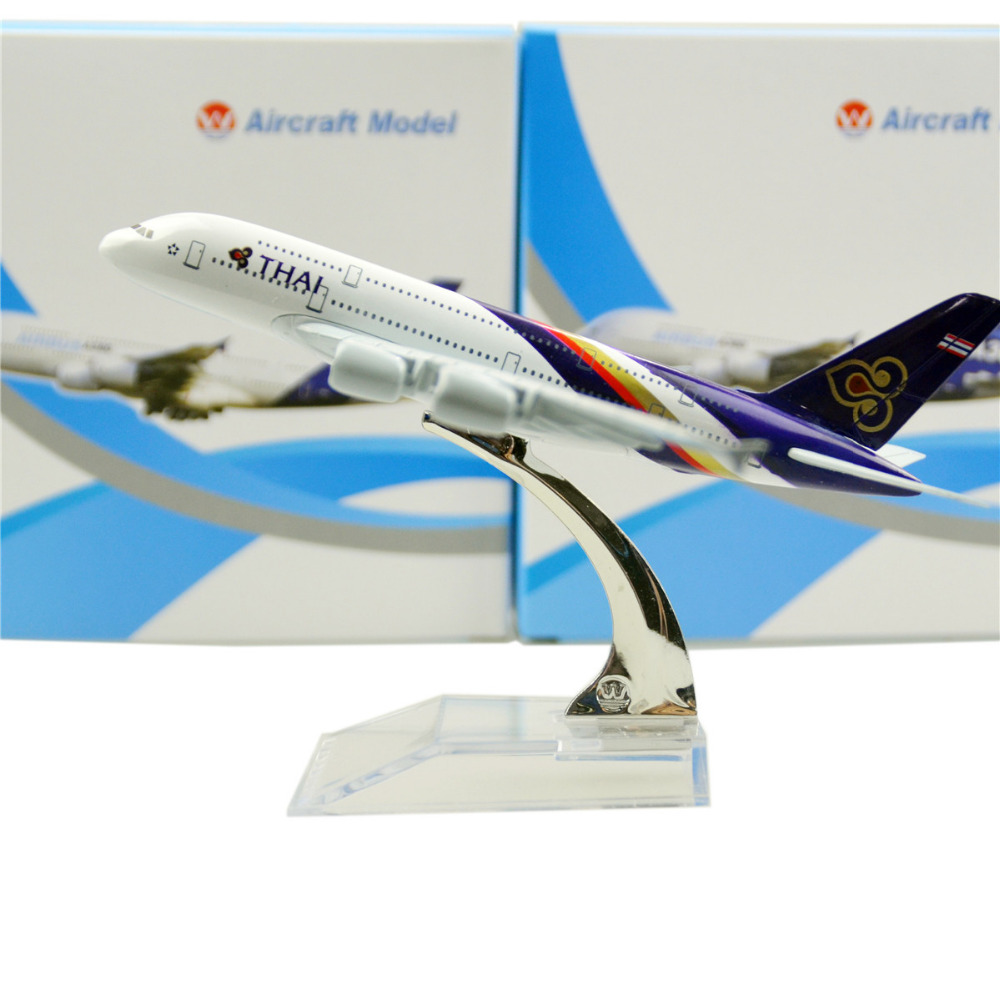 Tai Airways Airbus 380 16cm model airplane kits child Birthday gift plane models toys Christmas gift(China (Mainland))