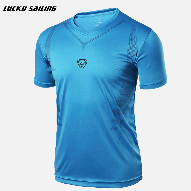 2017 New Soccer Jerseys LINGSAI Brand men Designer 3D printing T Shirt sports Quick Dry Slim Fit causal shirts Tops & Tees(China (Mainland))