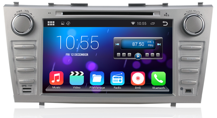 Pure android 4.4 Car DVD for Toyota Camry 2007-2011 with Capacitive screen 1.6G CPU Dual Core 1G RAM GPS Autoradio NAVI Stereo(China (Mainland))