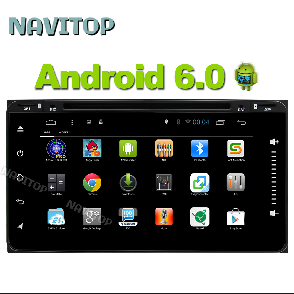 Navitop android 6.0 car dvd player gps for Toyota HILUX Avensis RAV4 TOYOTA HIGHLANDER 1064*600 2 din radio stereo navigation(China (Mainland))