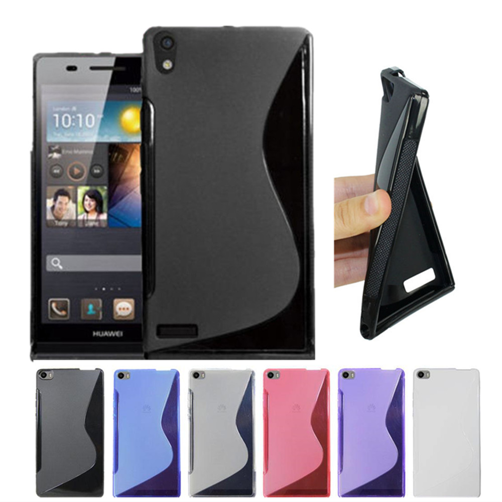 Rubber Soft S Line Silicone TPU Transparent Cover Case Huawei Ascend P6 P7 P8 Lite Protective Shockproof Gel Skin - Lapoocase store