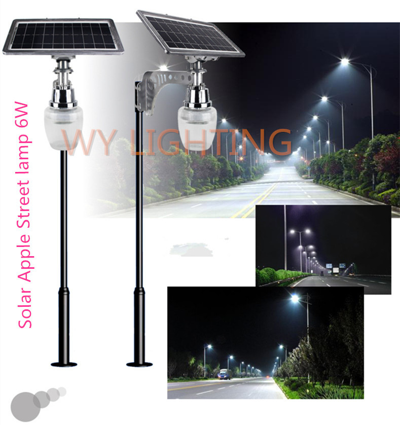 powered led street light with 10w solar panel intergrated outdoor