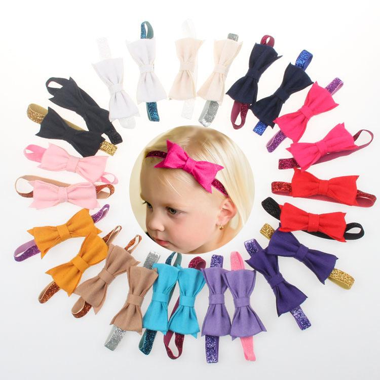 Butterfly Festival powder baby hair accessories/ children felt bow headband onions/elastic band(China (Mainland))