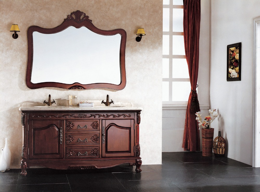 Buy Double Sink Bathroom Vanity With Solid Oak Wood From Rel