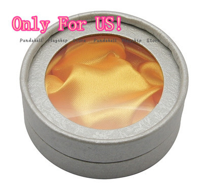 Cardboard Bracelet Boxes, Silver, Round, Size: about 85mm in diameter, 3.5cm high(China (Mainland))