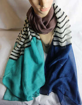 2013 New Arrival  Cotton Colorful Dtriped  Scarf  Shawl for women  Big  long scarf