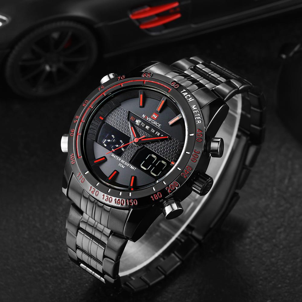 Sport Watch Men 2016 NAVIFORCE Dual Time Quartz Digital Led Watch Mens Watches Top Brand Luxury Business Watch Men Wristwatch(China (Mainland))