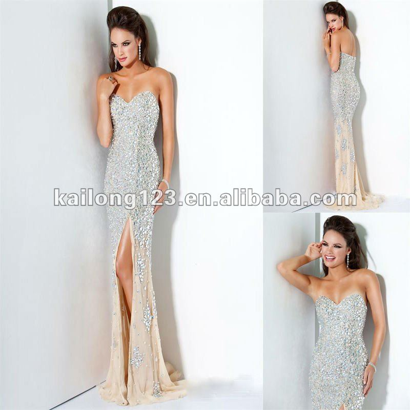 Gorgeous sweetheart mermaid court train champagne for Brand name wedding dresses