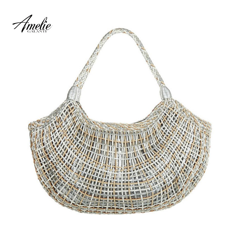 Dumpling Bag Knitting Pattern : Aliexpress.com : Buy AMELIE GALANTI 2016 classic style retro woven bag knitti...