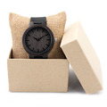 BOBO BIRD Men s Design Brand Luxury Wooden Bamboo Watches With Real Leather Quartz Watch in