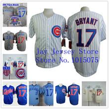 kris bryant trikot Zuhause weg weißen nadelstreifen graublau umkehren Chicago cubs uniformen(China (Mainland))