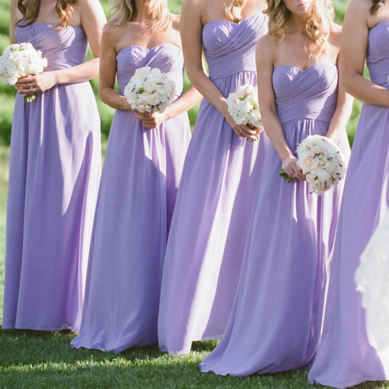 Buy long lavender bridesmaid dresses for Lilac dress for wedding