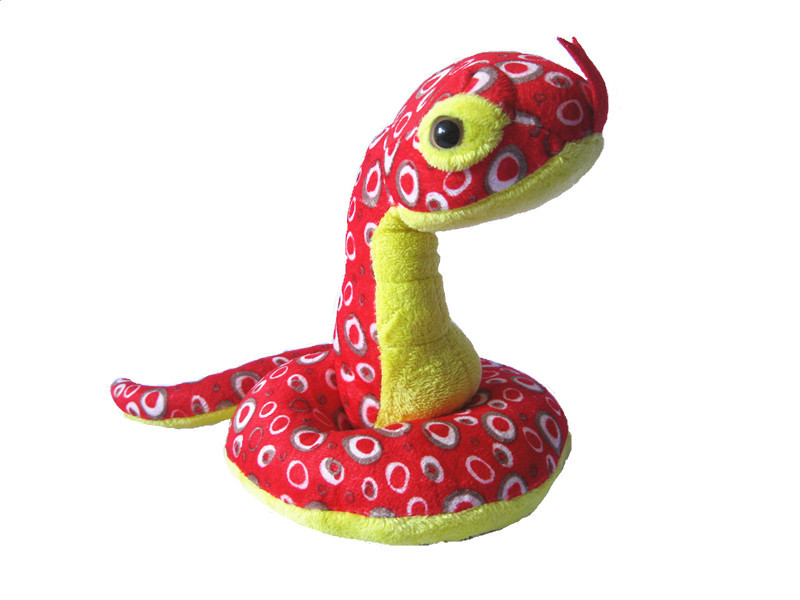 16*13 cm cute plush snake toy(China (Mainland))
