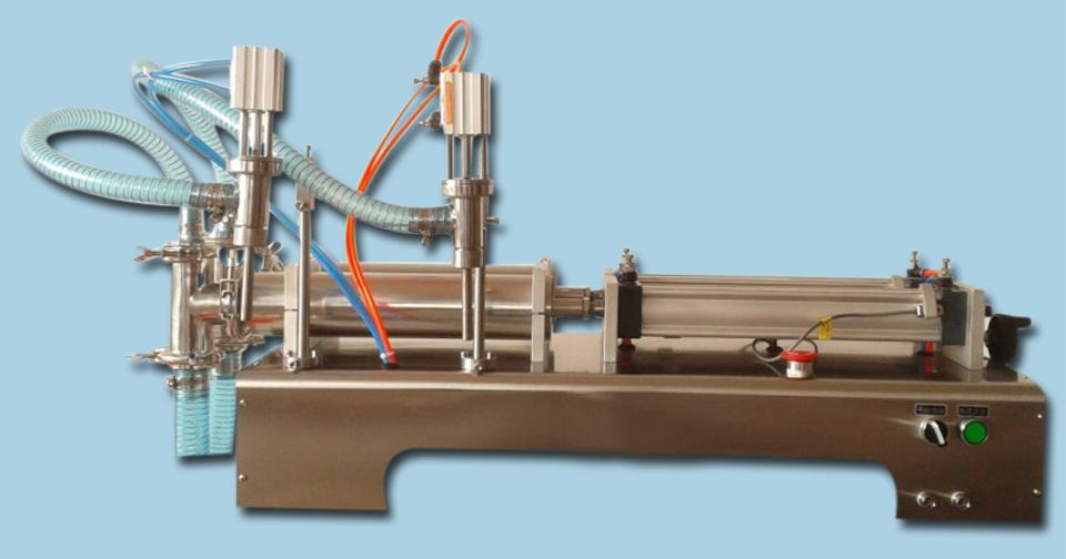 two heads liquid filling machine low viscosity fluid , 5ML-100ML - YOLI Group company store