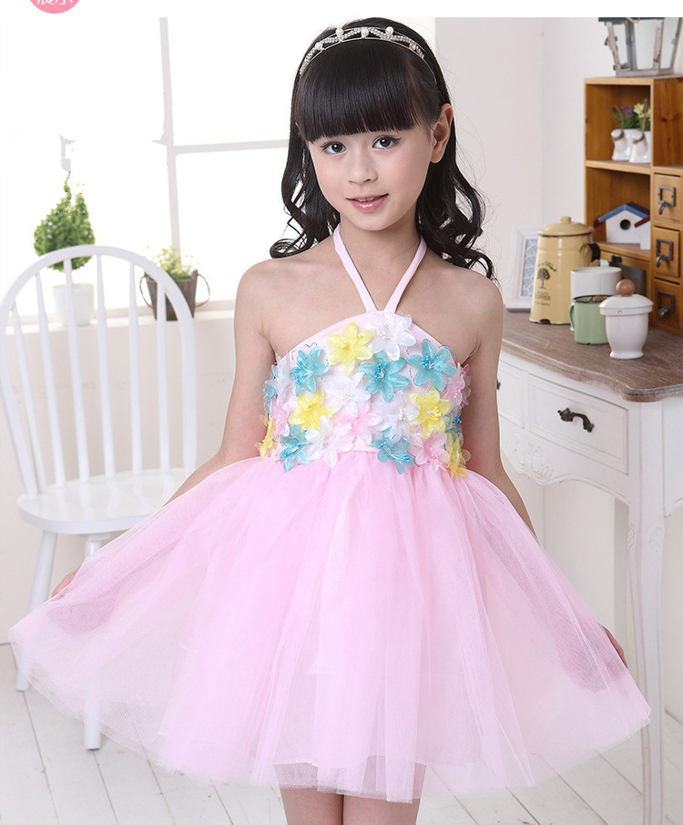 Vestido Infantil Real Lace 2015 New Christmas And Halloween Princess Girl Kids Dance Costumes Dress Flower Tutu 3 Colours Ready(China (Mainland))