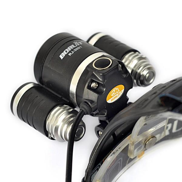 Купить 3T6 Рыбалка Свет 8000LM 3 * XM-L T6 СВЕТОДИОДНЫЕ Фары Lanterna де Cabeca Фары Фонарик Глава Факел Лампы + Аккумулятор и Ac/Автомобильное Зарядное Устройство