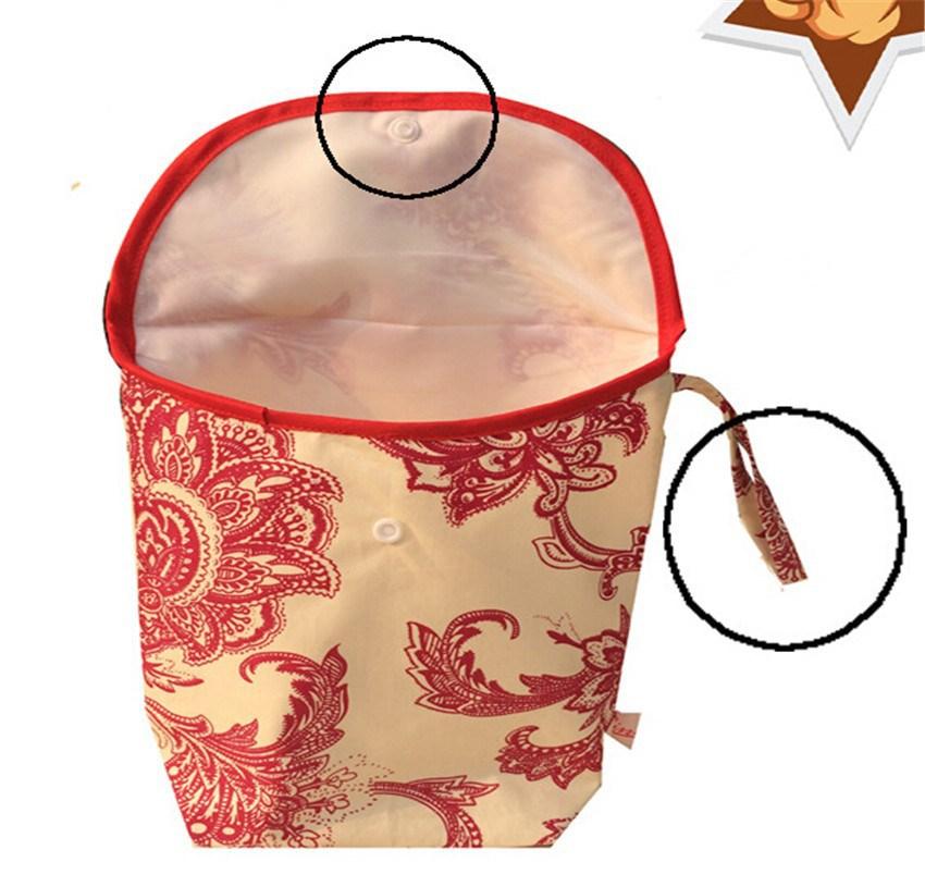 Мокрый сухой Засов младенца мешок пеленки мешок водонепроницаемый многоразовые ткань пеленки подгузник влажные сухой мешок сумка ручка водонепроницаемый засов