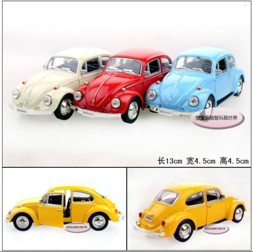Yufeng Super cool 1:36 mini classic beetle alloy model car toy birthday gift 1pc(China (Mainland))