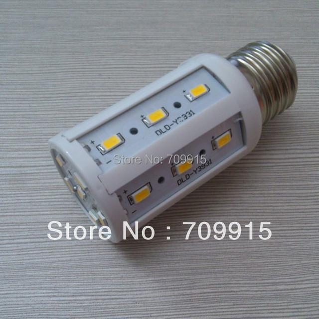 HOT SALE 2013 New Arrival E27 7W SMD5730 24LED Corn Light Bulb Lamp Warm White/Cool White AC220-240v Free Shipping 10pcs/lot