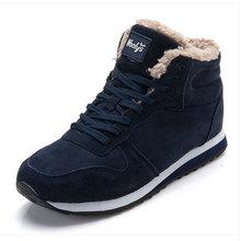 Mannen laarzen mannen Winter Schoenen Mode Snowboots Schoenen Plus Size Winter Sneakers Enkel Mannen Schoenen Winter Laarzen Zwart blauw Schoeisel(China)