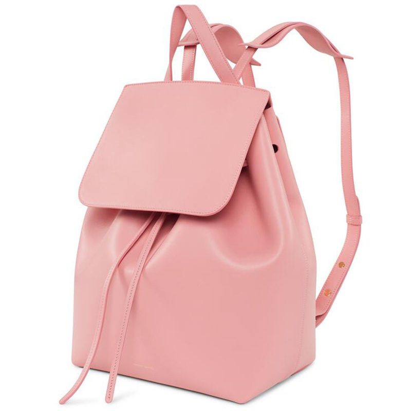 Italian Calf Leather Backpack with Pink Interior Mansur Gavriel Leather Backpack Adjustable Straps Wholesale &amp; Retail <br><br>Aliexpress