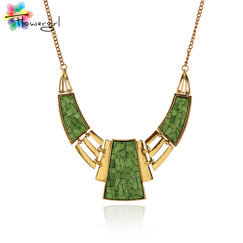 Ethnic Style Fashion Accessories Online Vintage Costume Jewelry Geometrical Gold Necklace For Women Statement Necklace [nT385](China (Mainland))