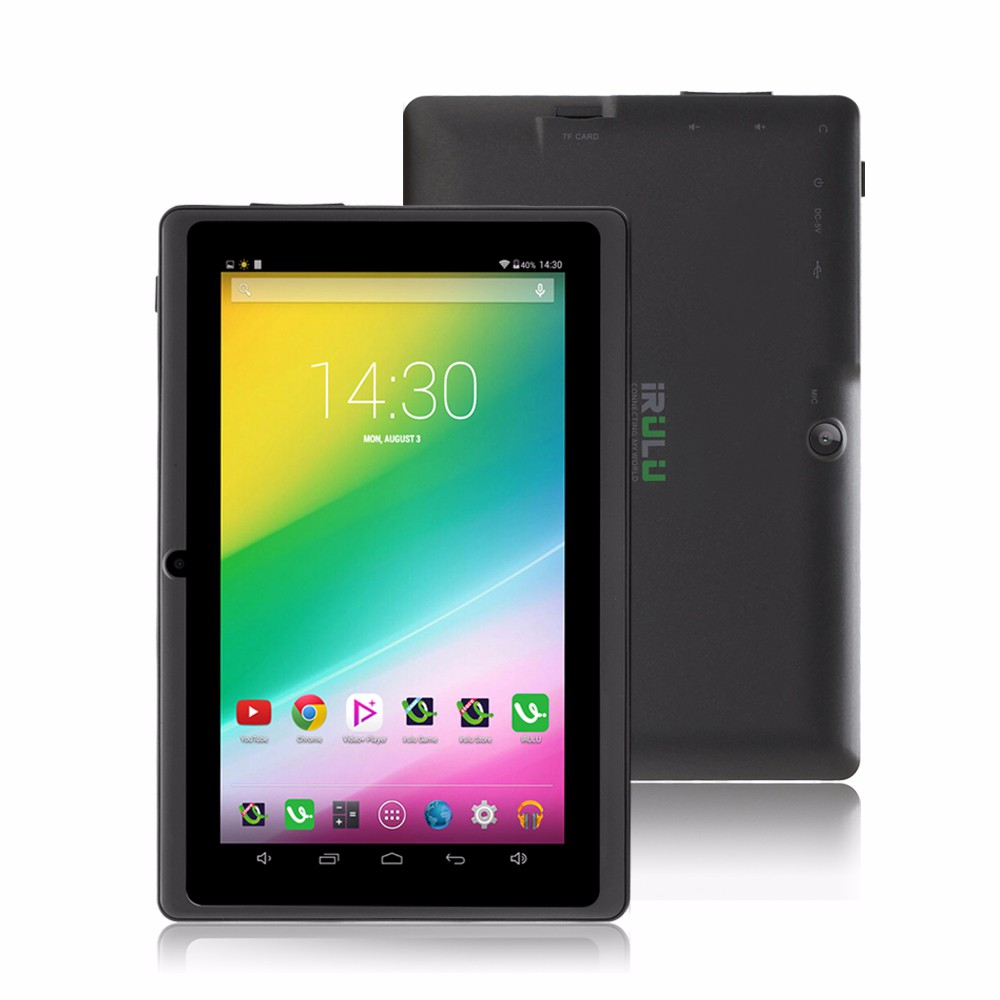 iRULU eXpro X3 7″ Tablet PC 8GB ROM Android 6.0 Quad Core Tablet 1024*600 HD Dual Cam Support Google Play WIFI