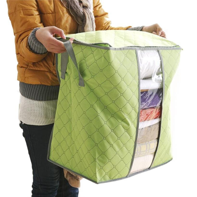 Amazing Storage Box Portable Foldable Clothing Organizer Non Woven Clothing Storage Box for Blanket Pillow Underbed Bedding(China (Mainland))