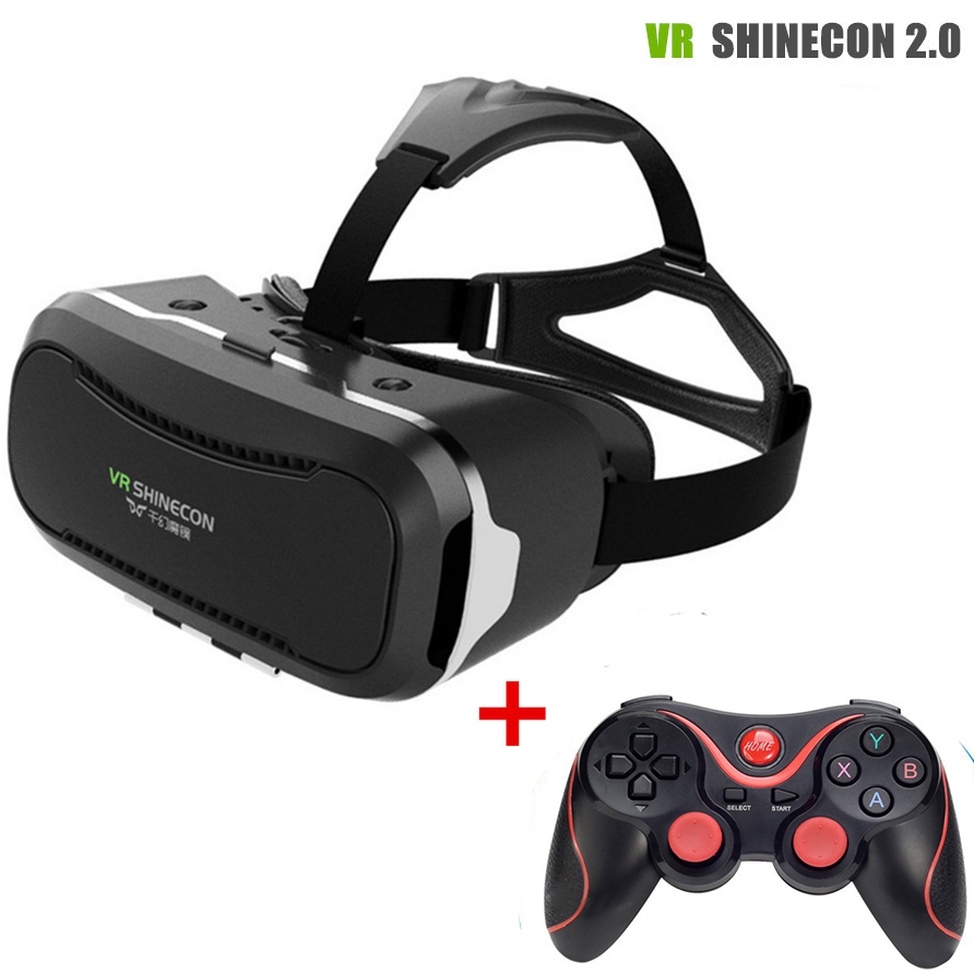 VR BOX 3.0 vr glasses VR Shinecon 2.0 Virtual Reality Glasses Google Cardboard 2.0 For 4.7-6.0 inch Smartphone + Remoter gamepad(China (Mainland))
