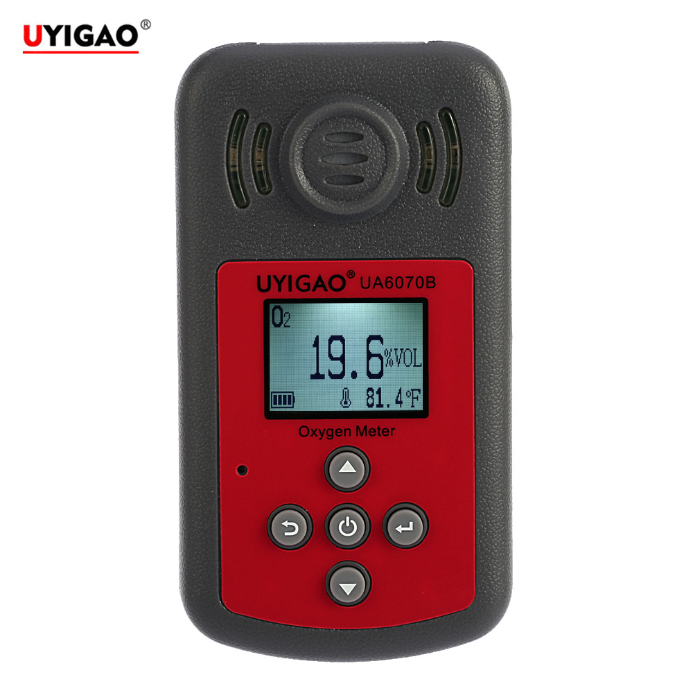 Portable Oxygen Detector Automotive Mini Oxygen Meter O2 Gas Tester Monitor Gas analyzer with LCD Display Sound and Light Alarm(China (Mainland))