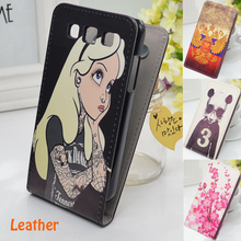 Free shipping Vintage Back Cover Flip Leather Case For Samsung Galaxy Win i8552(China (Mainland))