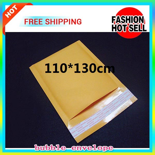50pcs,Shockproof case Yellow Bubble Envelope Wrap Bag Pouches Packaging PE Bags 110*130mm Kraft Bubble Mailers Pad Transport(China (Mainland))