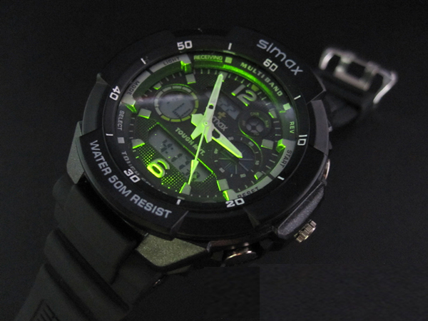 Hot sale! Men's Military dive swim watch Dual Time led Digital analog quartz wrist watch Chronograph 2 years warranty(China (Mainland))