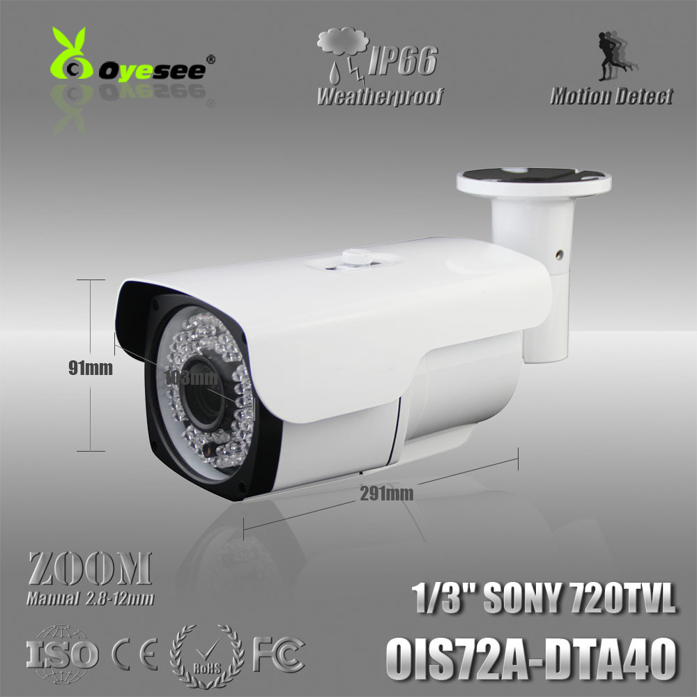 OIS72A-DTA40 720TVL Effio-A CCD 2.8-12mm Manual Zoom Lens IR Weatherproof Security CCTV Camera surveillance cameras company(China (Mainland))