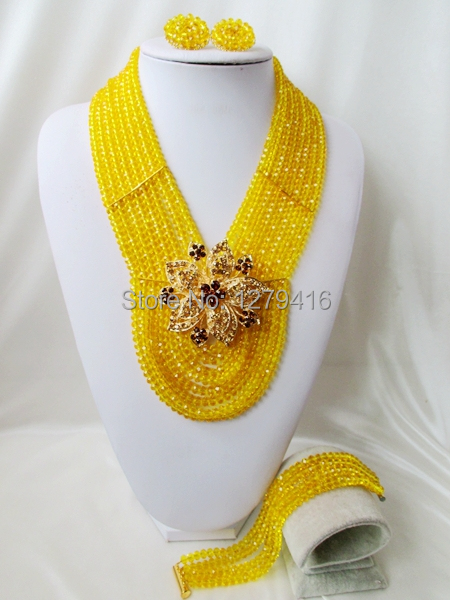 2014 Rushed  Classic Women Crystal Jewelry Sets New Arrived Nigeria Jewelry Set Necklace Africa Beads Set  AAA356<br><br>Aliexpress