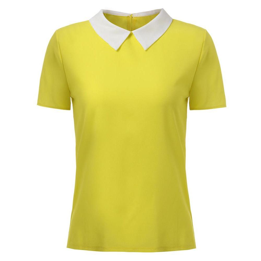 Plus size S-L polo femme brand short Polo shirt women Solid Loose short sleeve shirt for women camiseta polo feminina A2