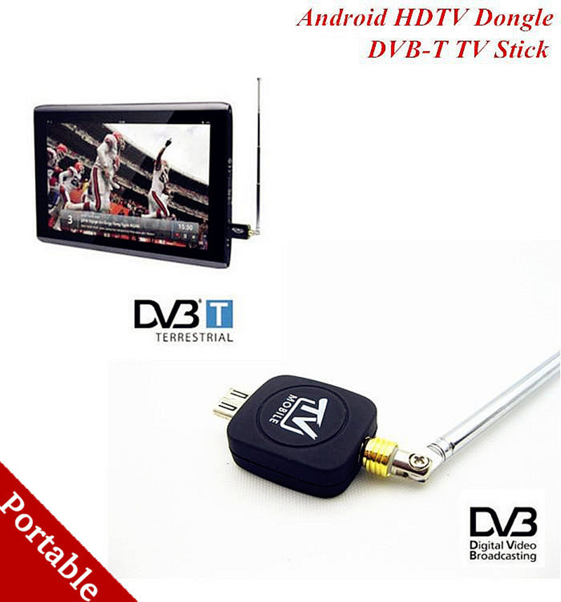 High Quality MICRO USB DVB-T Aerial Tv Stick For Android Pad Smartphone MICRO USB Mobile Phone(China (Mainland))