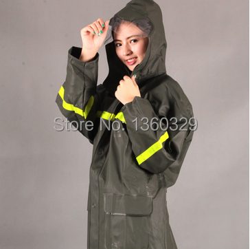 Labor Protection font b Burberry b font men Woman Raincoats Waterproof Rain Coat Pant Thickening Reflective