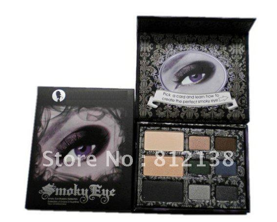 Wholesale NEW ARRIVAL 100% guaranteed smoky eye palette,9 colors make up eye shadow palette  6pcs/lot Free shipping