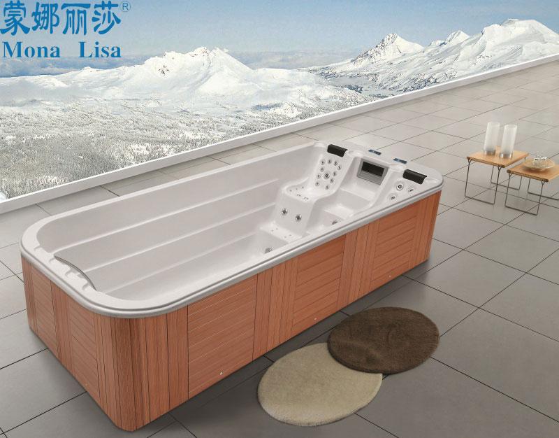 Luxury outdoor large 5 5 meter acrylic hot spa tub aqua for Oversized garden tub