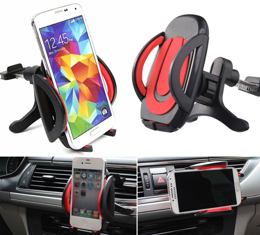 Adjustable Air Vent Universal Car Phone Holder Stand For Samsung Galaxy s6 / s6 edge / s6 edge plus 3.5-6 inch GPS Cradle Mount(China (Mainland))