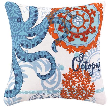 Ocean Animal Pillows : Ocean Animal Cotton Pillow Cushion Coastal home furnishing Octopus Pillow Case Seahorse Pillow ...
