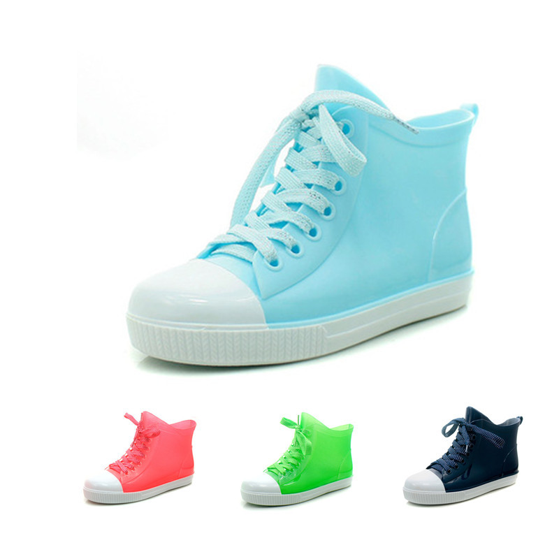 2015 women's summer rain boots slip-resistant WARRIOR water shoes jelly rainboots crystal rubber shoes rain shoes