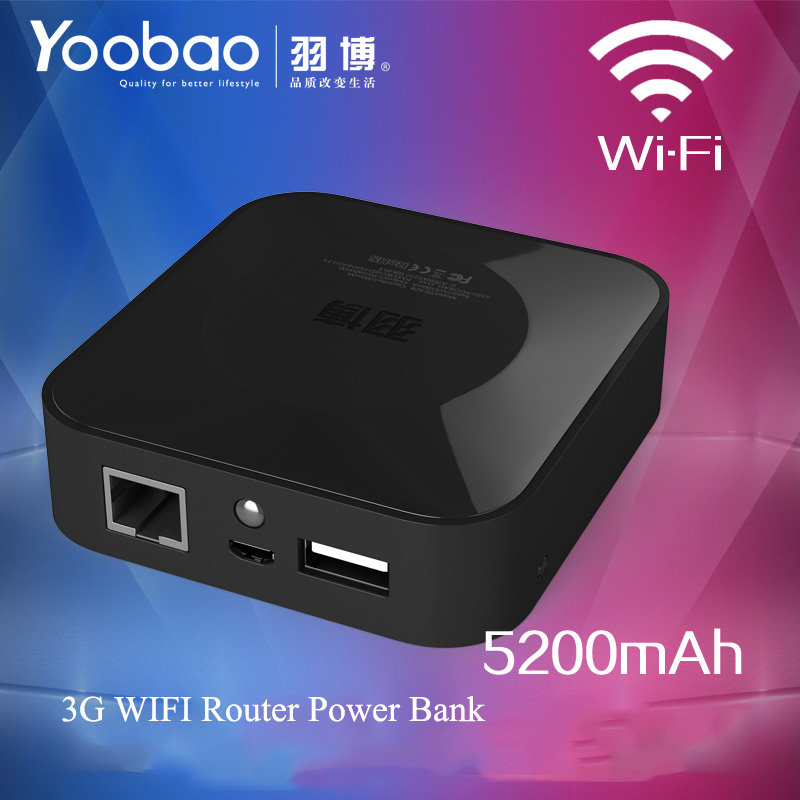 Yoobao 5200mAh Portable Power Bank External Backup Battery Charger 3G Wifi Router LED Light Power Bank for All Smartphone(China (Mainland))
