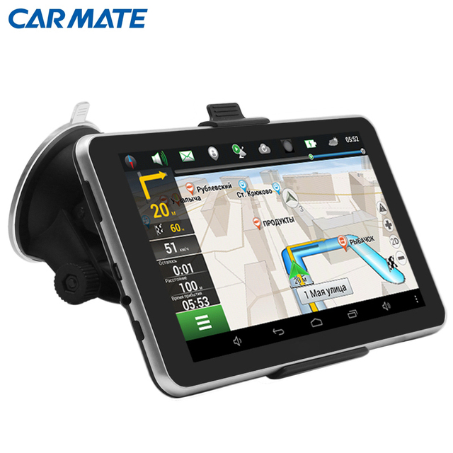 "7 ""Android 4.4 Автомобильный GPS Навигатор навигатор MT8127A Quad-core Bluetooth WIFI Навител/Европа/Россия Карта автомобиль gps Емкостной"