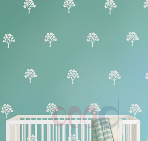 Buy Little Trees Vinyl Wall Sticker Wall Decal Diy Home Decoration Removable