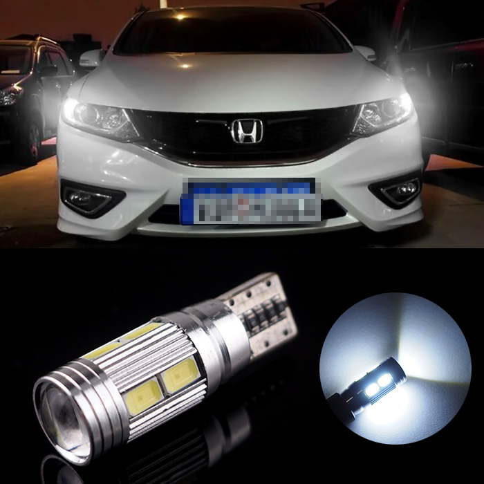 Car Canbus No Error T10 w5w LED Width Lamp Light With Lens Projector For VW BMW AUDI(China (Mainland))